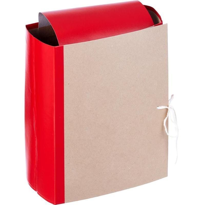 Папка архивная 120мм 4 завязки 1200л крафт/бумвинил красный 228x120x310мм Attache