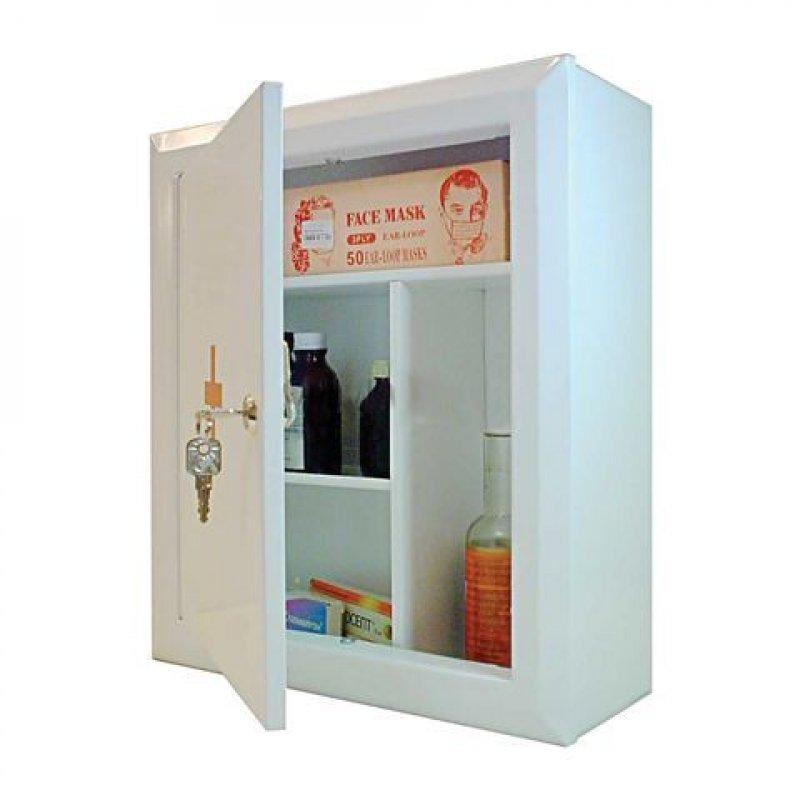 Шкафчик-аптечка 400x360x140мм металлический навесной