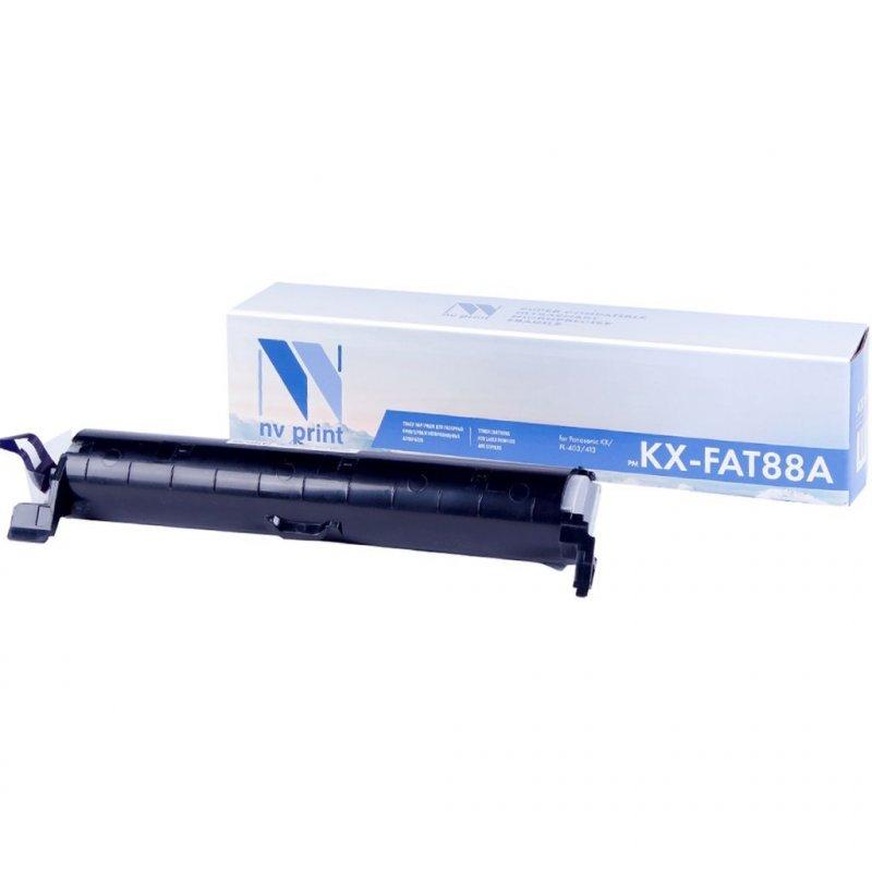 Тонер-картридж для факса Panasonic KX-FAT88A 2000стр черный NV-Print