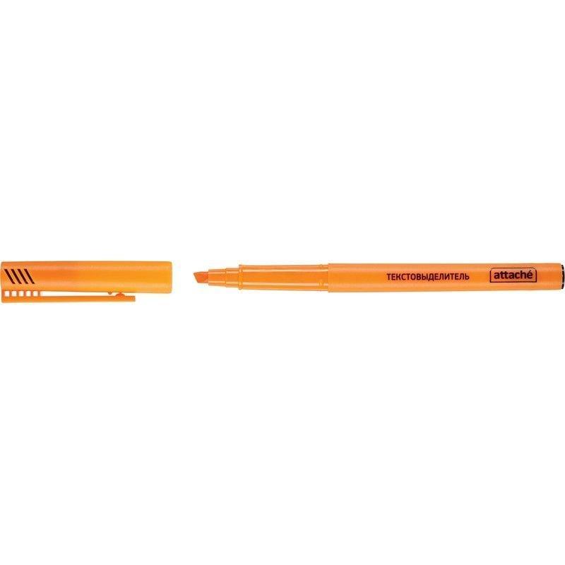 Текстмаркер Attache 1-3мм скошенный наконечник оранжевый