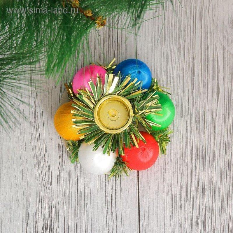 Подсвечник Цветные шарики новогодний