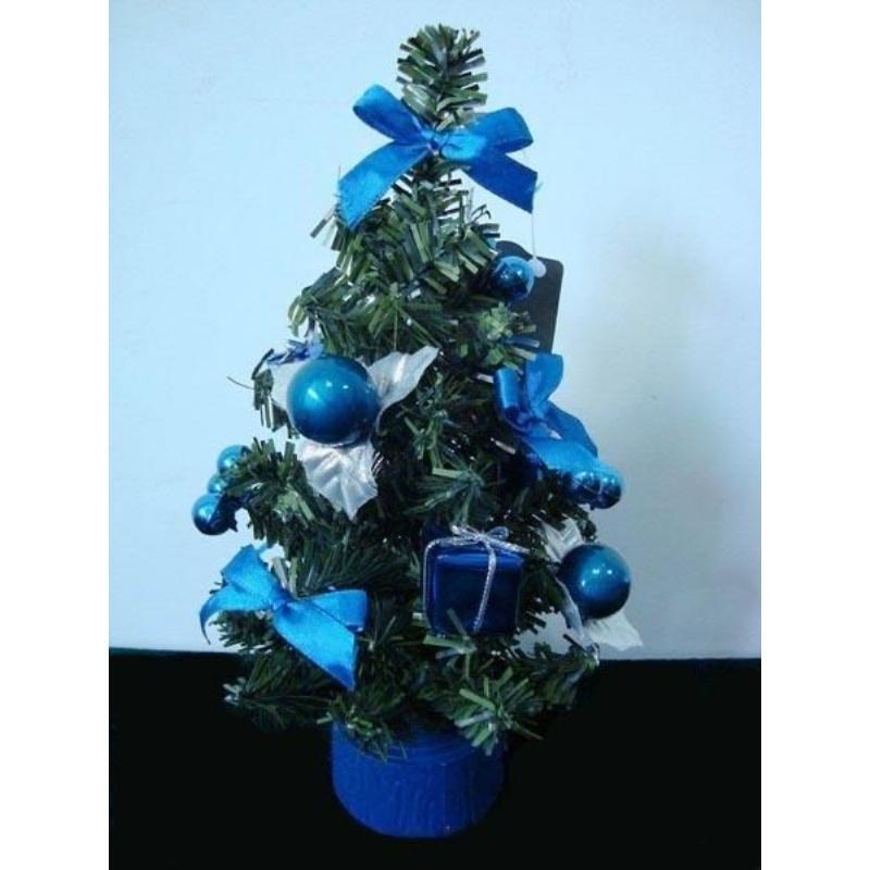 Елка 20см декор синие украшения