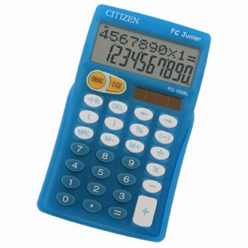 Калькулятор Citizen FC-100BL 125х75мм 10 разр 2-х стр