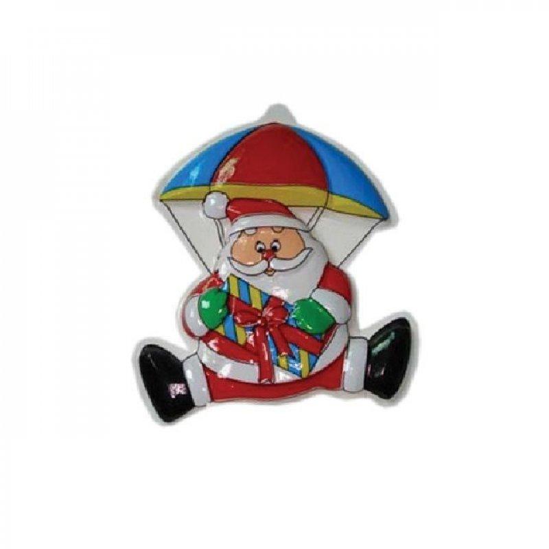 Панно Дед Мороз на парашюте 27х24см
