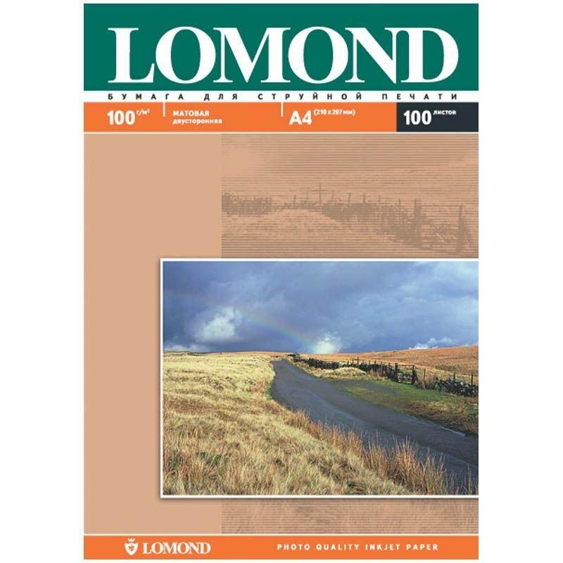 Фотобумага Lomond А4 100г/м2 100л двухсторонняя матовая