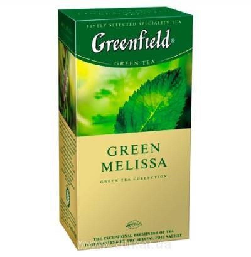 Чай Greenfield Melissa 25шт в пакетиках зеленый с мелиссой
