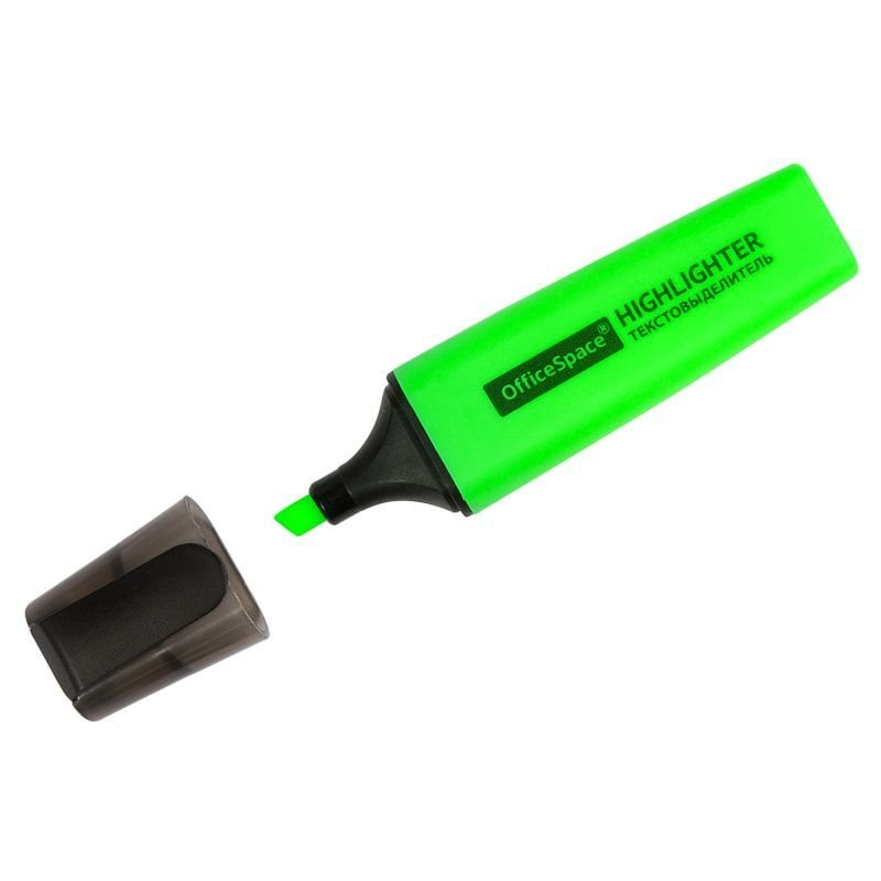 Текстмаркер OfficeSpace 1-5мм скошенный наконечник зеленый