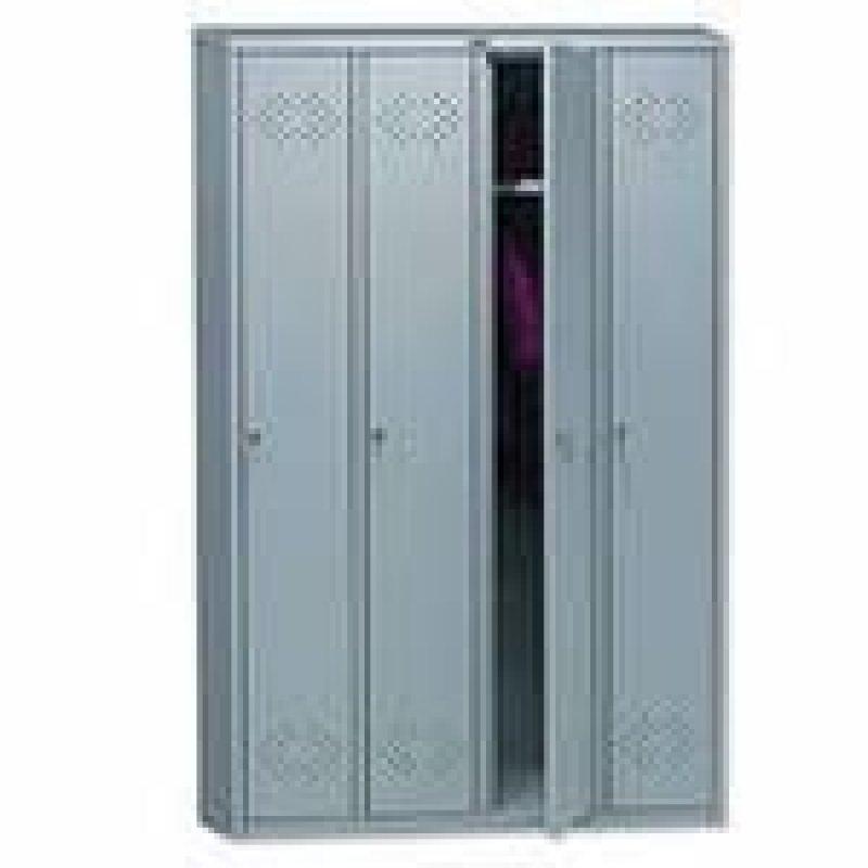 Шкаф металлический для одежды 4 секции Практик LS-41 1830x1130x500мм 59кг