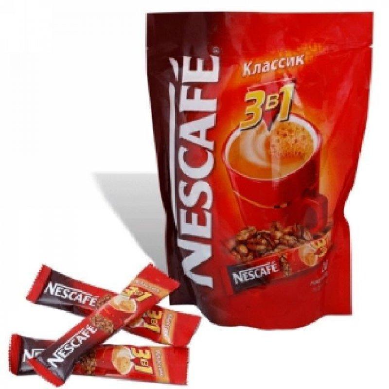 Кофе Nescafe Classic растворимый 3в1 16г 20шт/уп мягкая упаковка