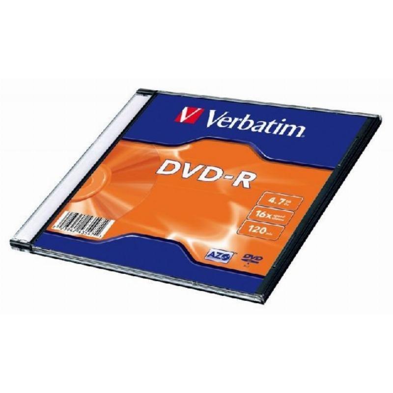 Диск DVD-R Verbatim 4.7Gb 16x Slim