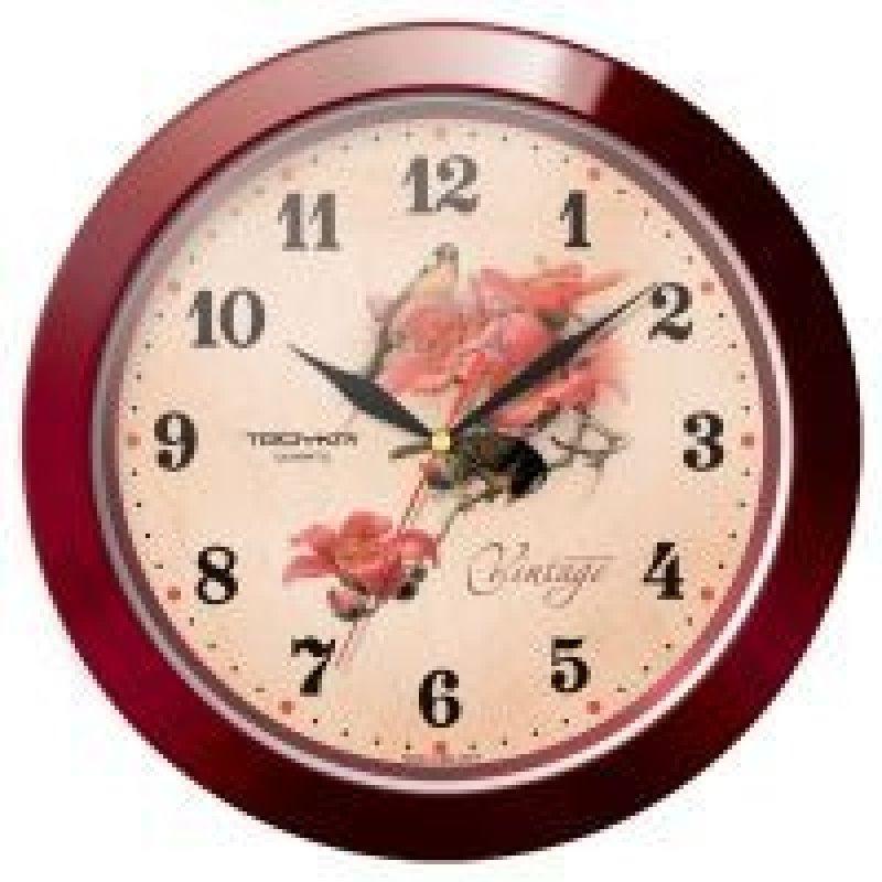 Часы настенные В-Тройка 11131155 круг цветы 290мм