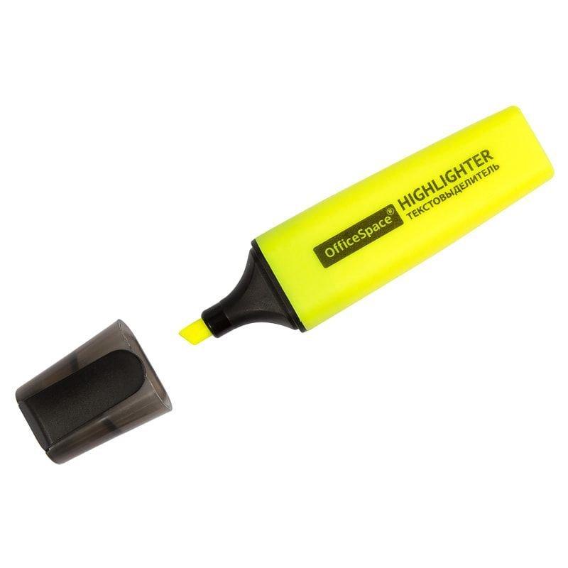 Текстмаркер OfficeSpace 1-5мм скошенный наконечник желтый