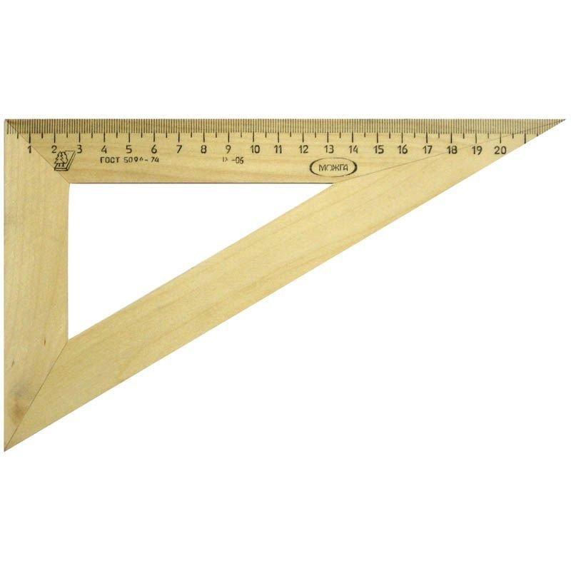 Треугольник 23см 30град Можга деревянный