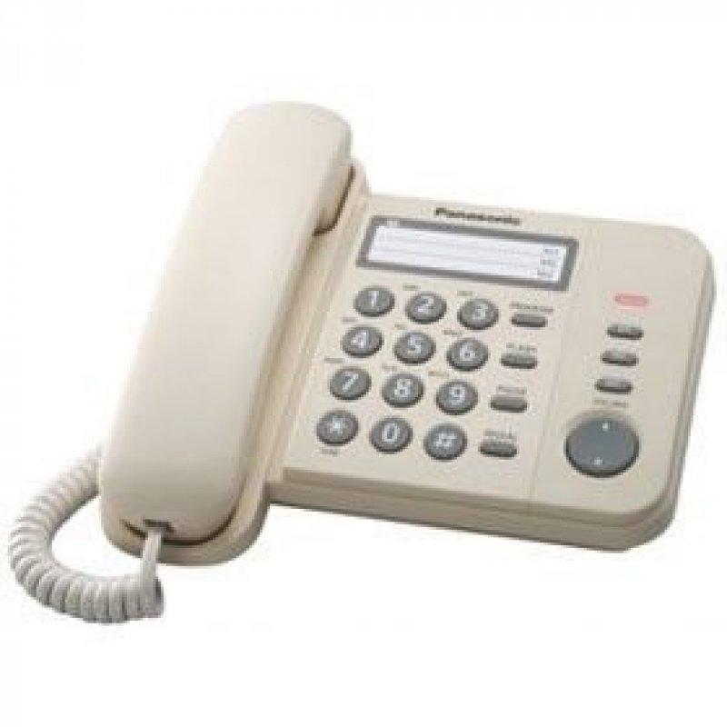Телефон Panasonic KX-TS2352RUW белый световая индикация однокноп набор