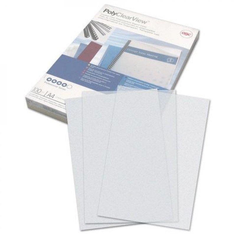 Обложки для переплета А4 300мкм пластиковые матовые прозрачные 100шт/уп