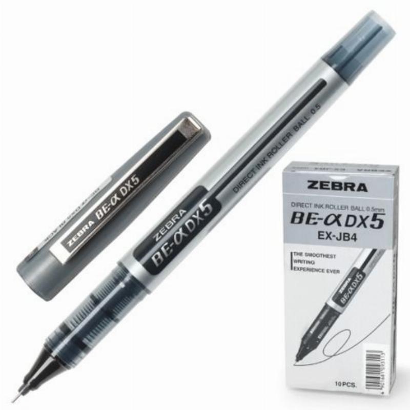 Ручка-роллер Zeb-Roller DX5 0,5мм серебристый корпус черная