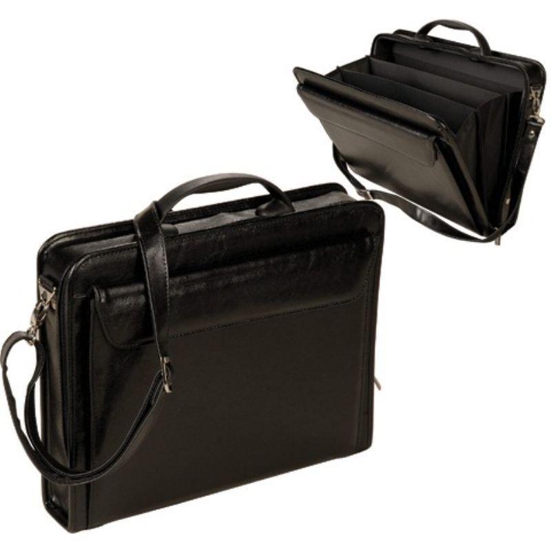 Портфель Алекс Паритет 38×29×6 см искусственная кожа 3 отделения на молнии черный