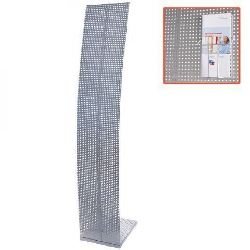Стойка для рекламных материалов напольная Парус 1 1600х300х360 мм