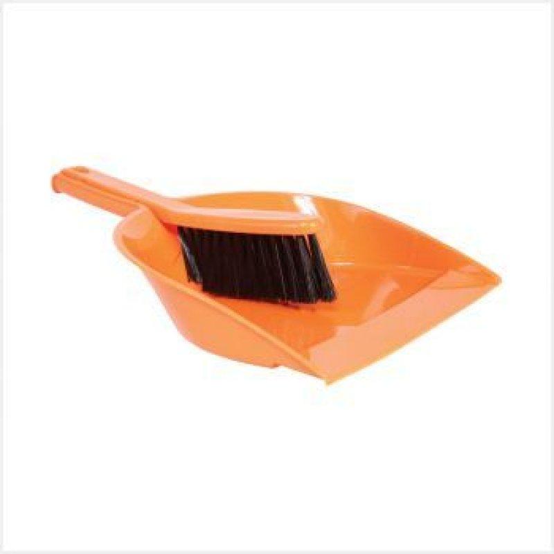 Совок для мусора пластиковый со щеткой-сметкой