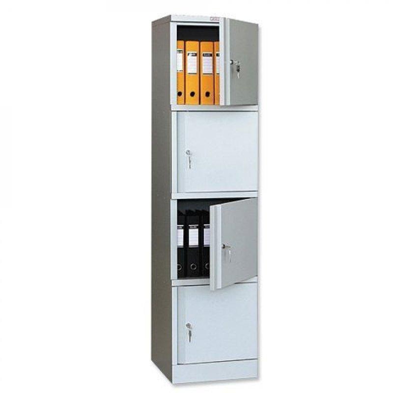Шкаф металлический для документов 4 отделения Практик AM-1845/4 1830х472х458мм 38кг