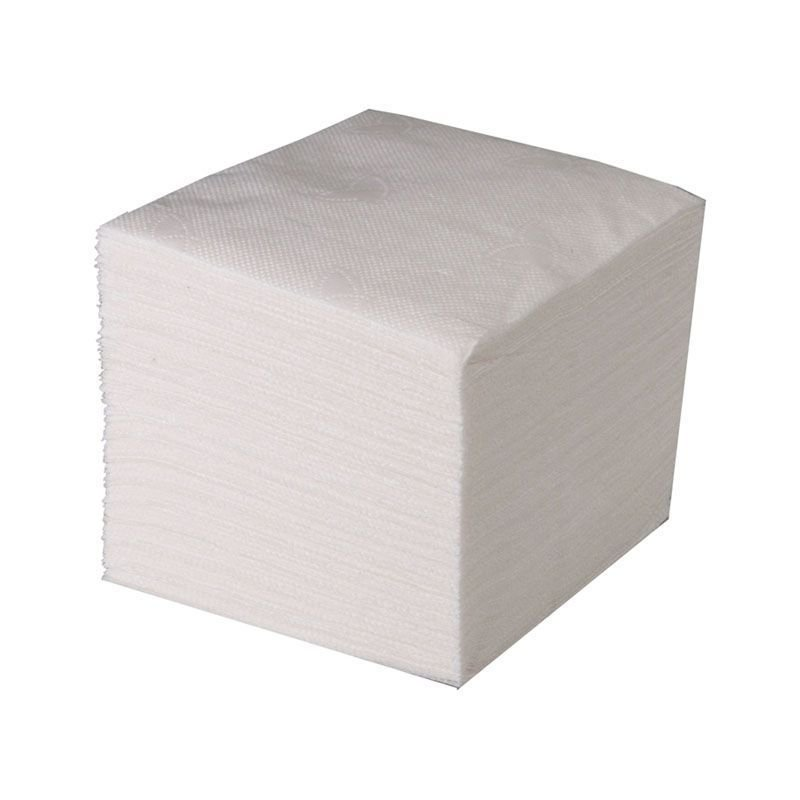 Салфетки 100л Эко 24х24см 1сл белые
