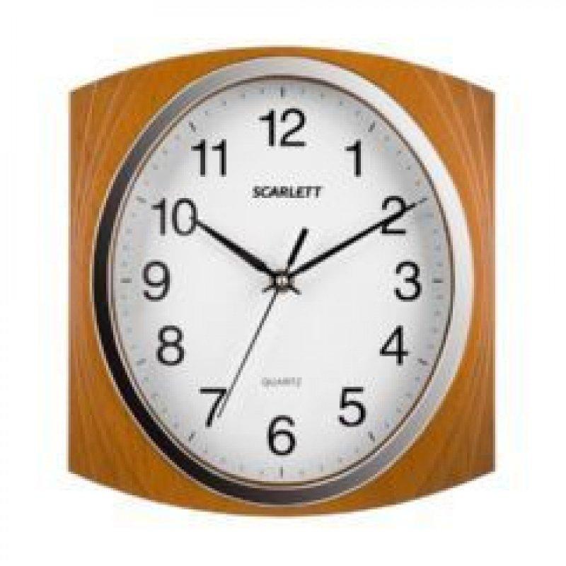 Часы настенные Scarlett SC-55RB квадрат белые 369мм