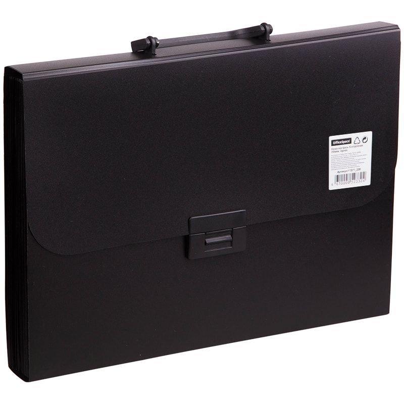 Портфель пластиковый 13-отд OfficeSpace A4 330*235*40мм 700мкм черный