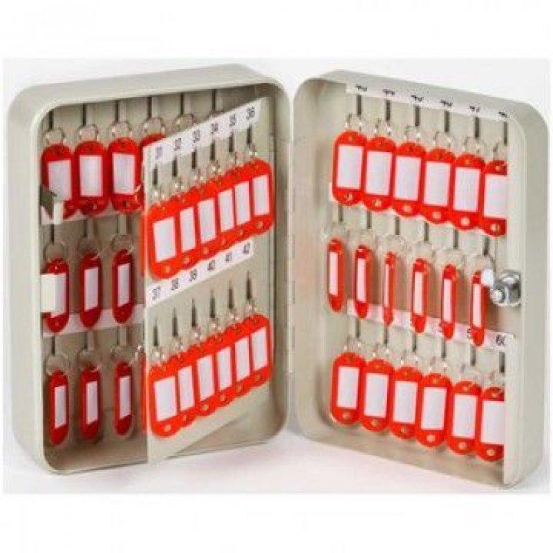 Шкафчик для ключей Office-Force на 60 ключей с замком 60 брелоков серый