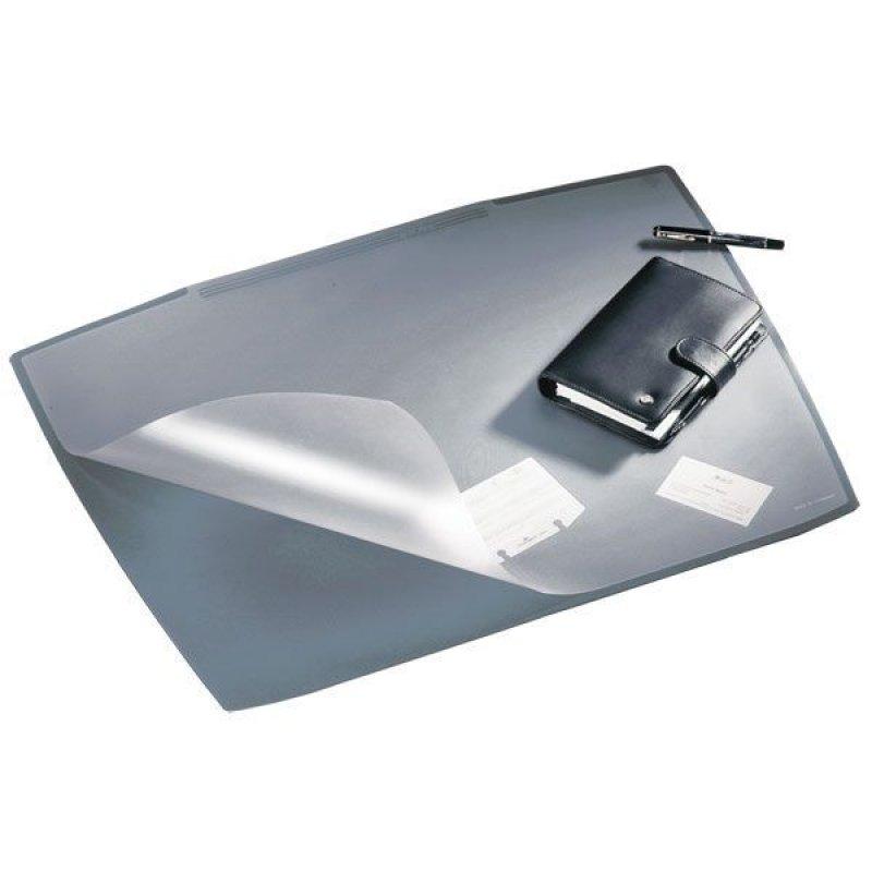 Коврик на стол Durable 65x52см черный с прозрачным верхним листом