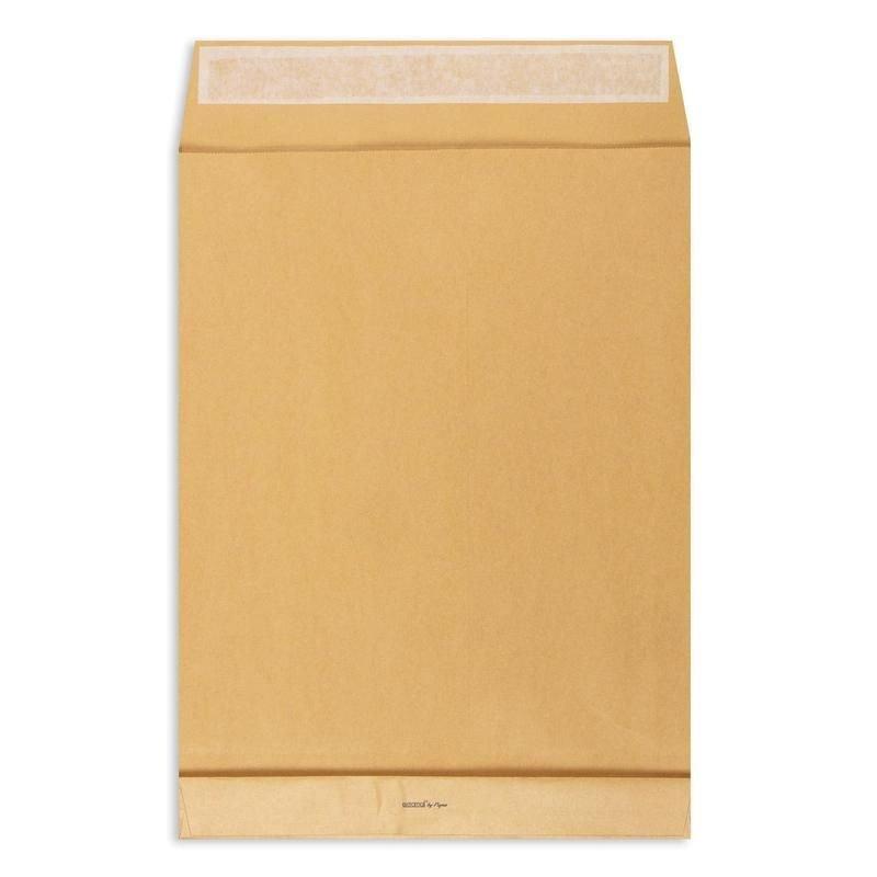 Конверт-пакет E4 объемный (300х400х40мм) крафт с отрывной полосой Extrapack (250)