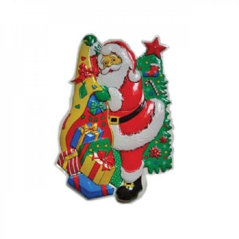 Панно Дед Мороз с елкой 71х48см