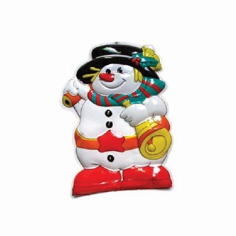 Панно Снеговик/Дед мороз 49х35см ассорти