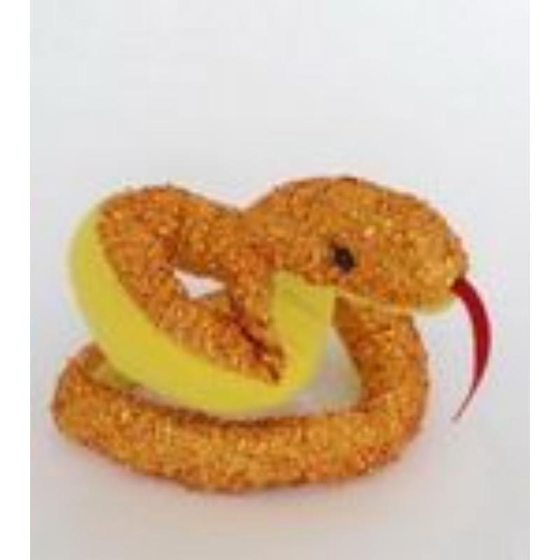 Новогодняя игрушка мягкая Змея 43см ассорти