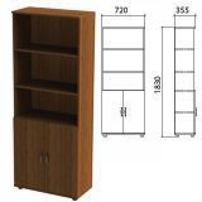 Шкаф полузакрытый Эко 720х355х1830 мм 2 двери 4 полки орех