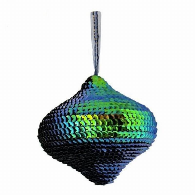 Украшение декоративное Луковица ультрамарин 9см