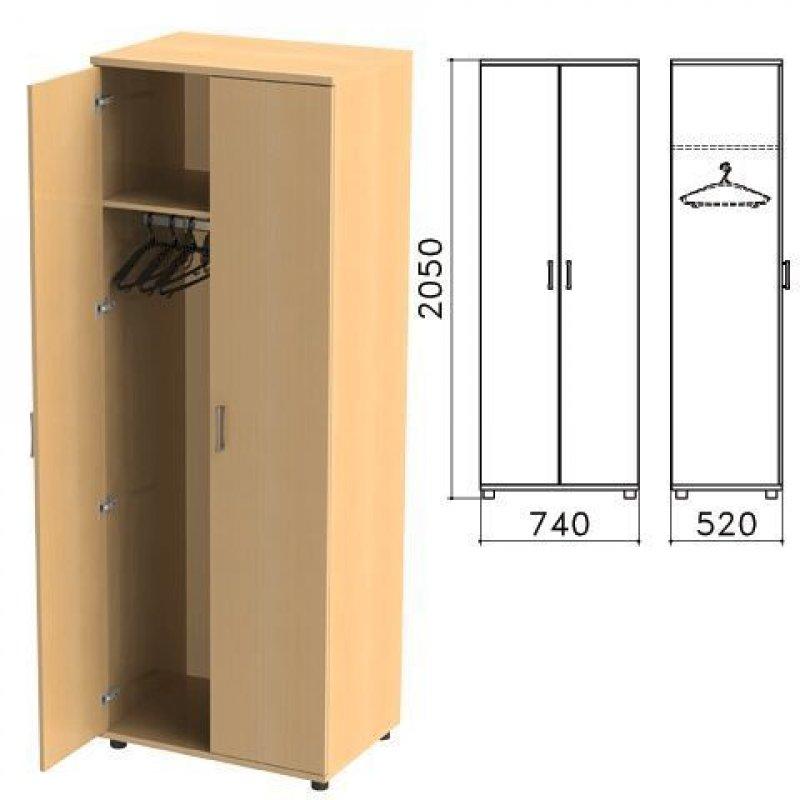 Шкаф для одежды Монолит 740х520х2050мм бук бавария