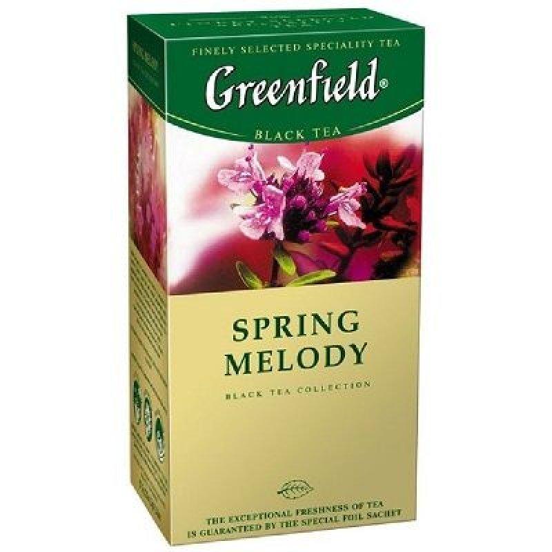 Чай Greenfield Spring Melody 25шт в пакетиках черный с чабрецом