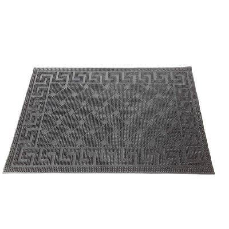 Коврик входной резиновый с рисунком черный 40х60 см