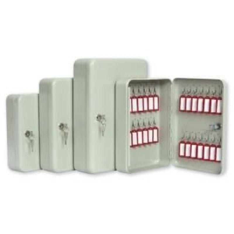 Шкафчик для ключей Office-Force на 20 ключей с замком 20 брелоков серый