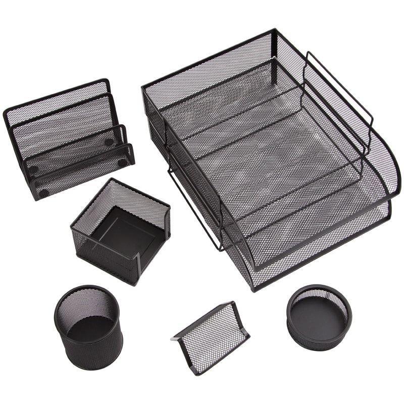 Набор настольный металлический 7 предметов Berlingo Steel&Style черный