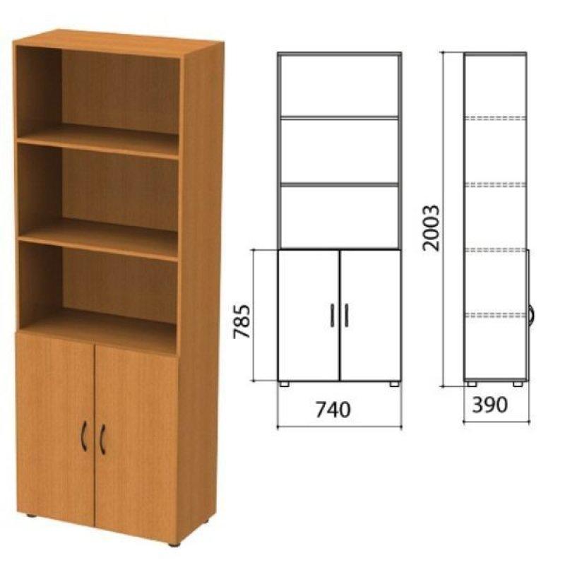 Шкаф полузакрытый Фея 740х390х2000мм комплект орех
