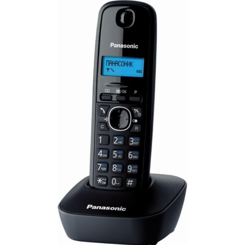 Радиотелефон Panasonic KX-TG1611RUH черный АОН 50 номеров полифония спикер
