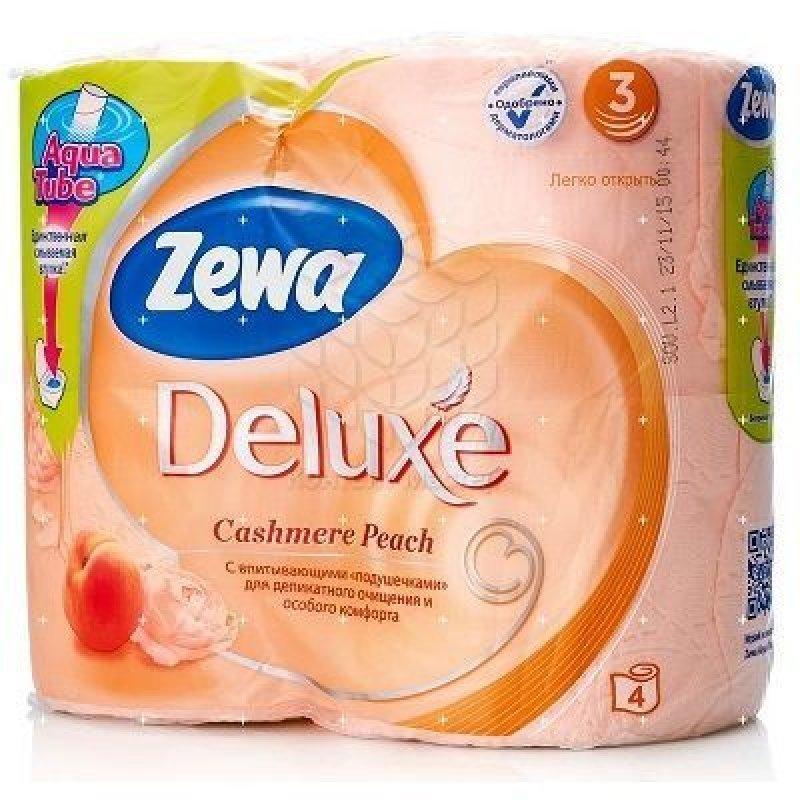 Бумага туалетная Zewa Deluxe 3-сл 4шт/уп ассорти