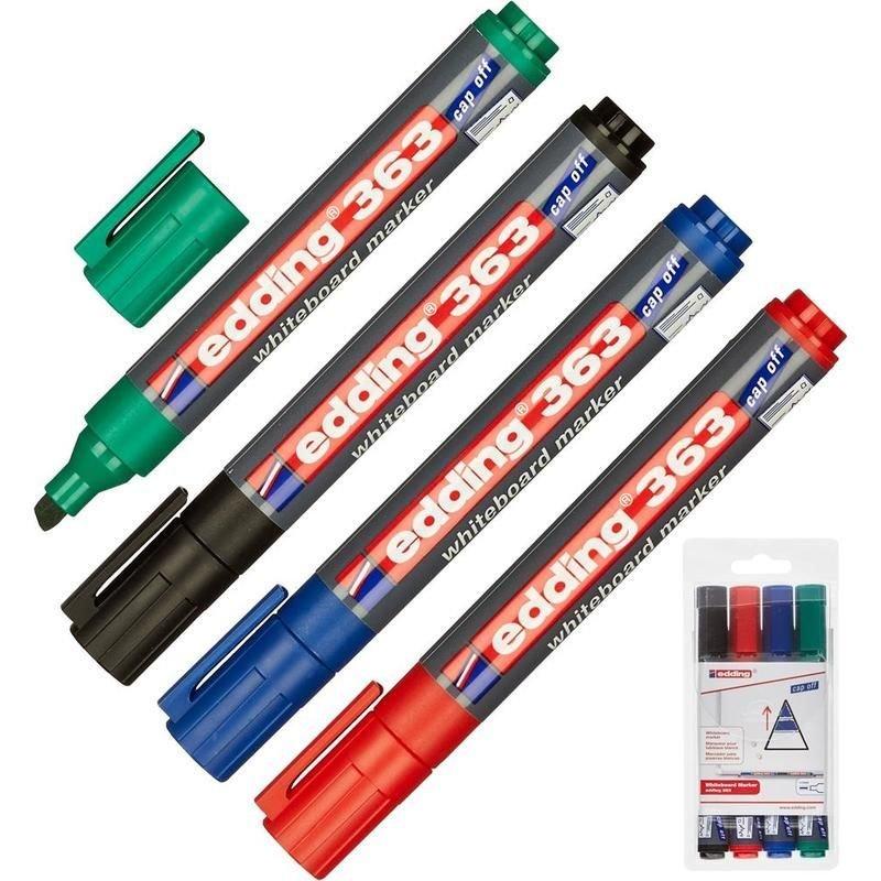 Набор маркеров для доски Edding 4цв 1-5мм круглый