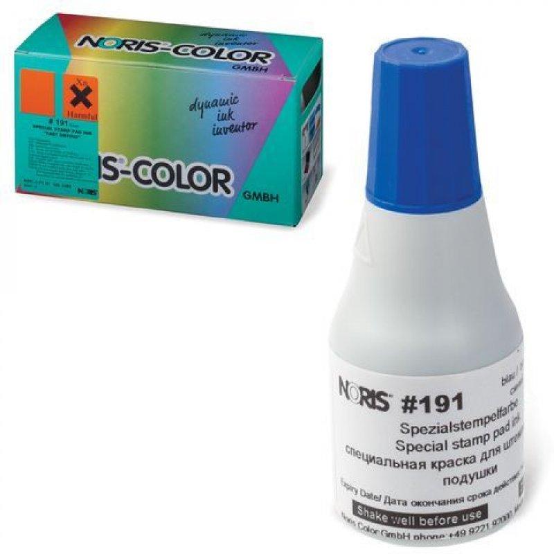 Штемпельная краска Noris 25мл синяя универс. для глянц. бумаги, металла, пластмасс