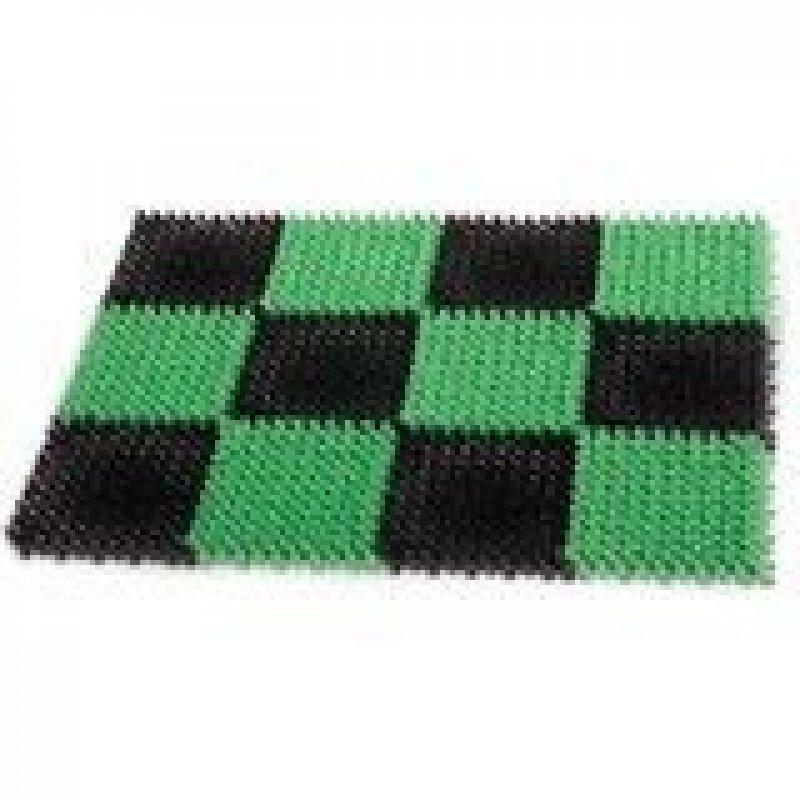 Коврик входной пластиковый грязезащитный травка зелёный/чёрный 55х41х1,8 см