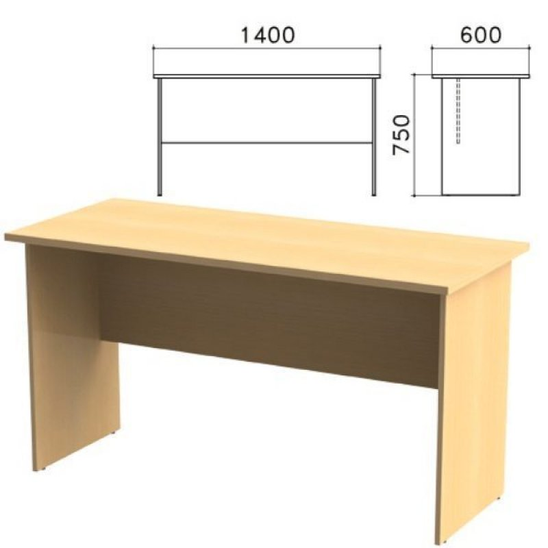 Стол письменный Канц 1400х600х750мм бук