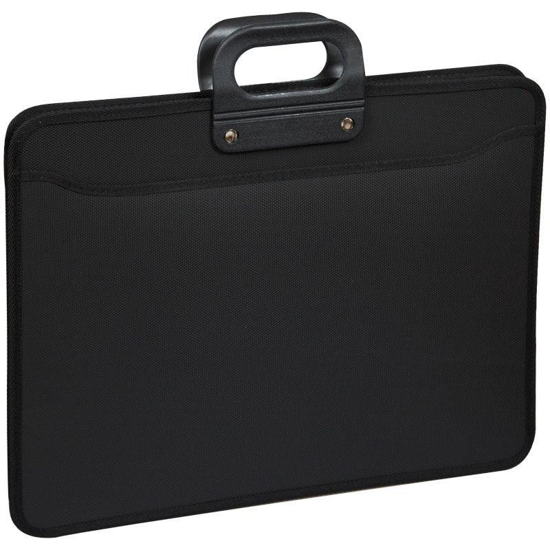 Портфель пластиковый 3 отд OfficeSpace А3 470*380*130мм на молнии черный