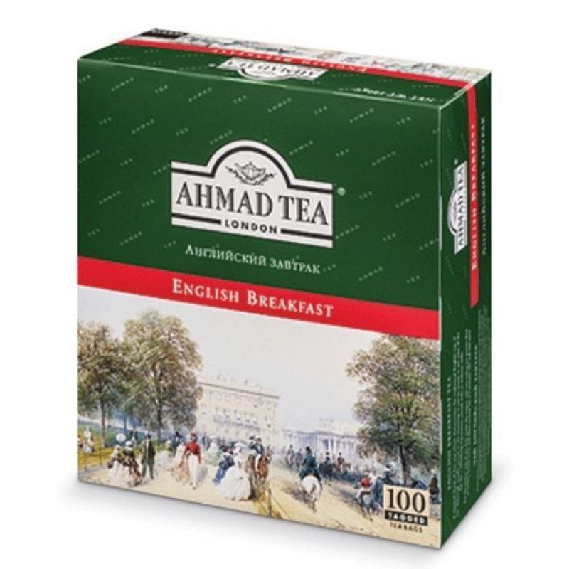 Чай Ahmad English Breakfast 100шт в пакетиках черный