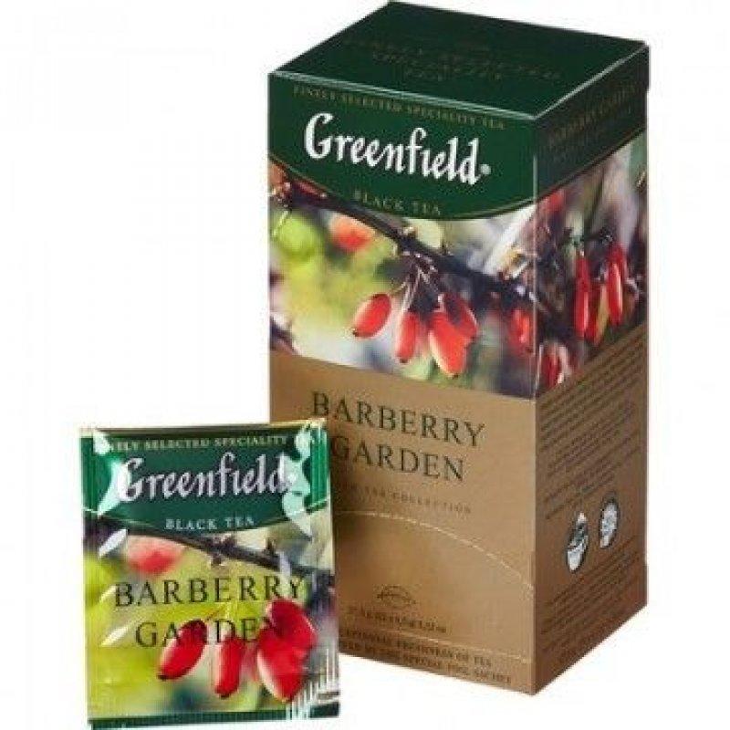 Чай Greenfield Barberry Garden барбарис и гибискус 25шт в пакетиках черный
